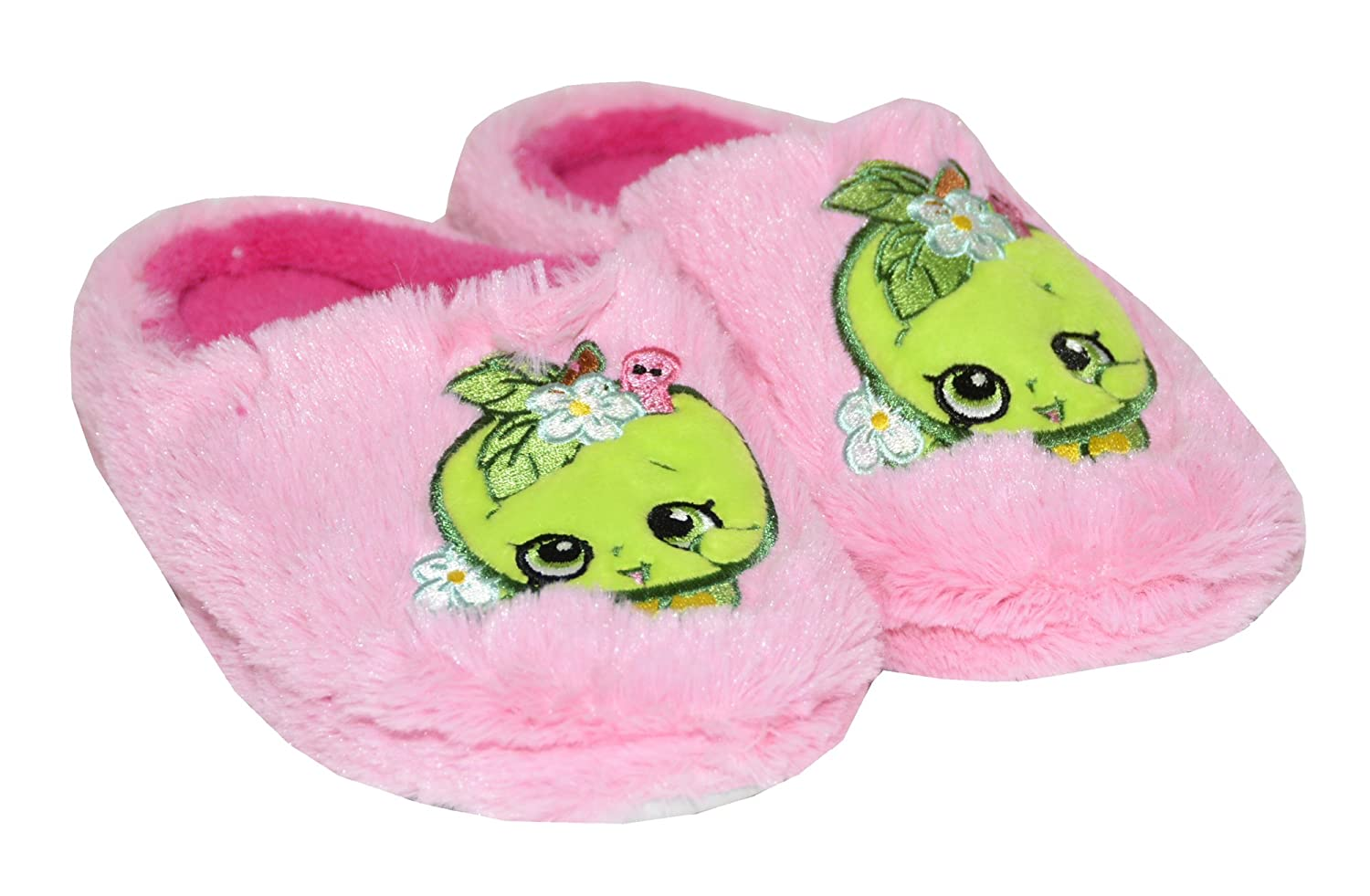 Shopkins Girls Embroidered Plush Clog Slippers