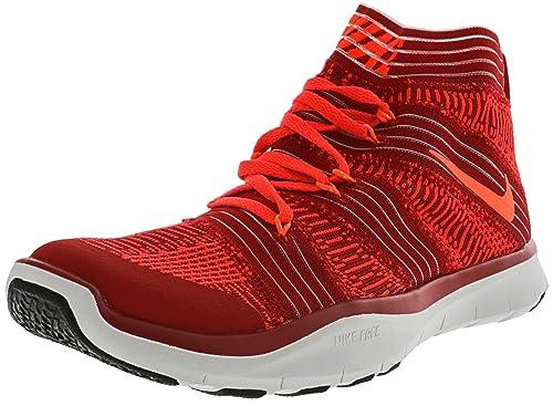 Nike Turnschuh mit Socke Herren Free Train Virtue Fitnesschuh Training Sportschuh Rot Sockenschuhe (44,5)