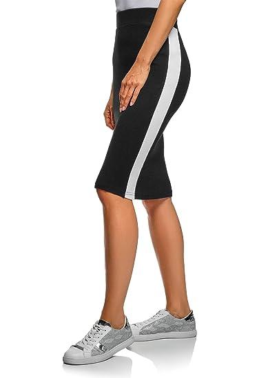 oodji Ultra Mujer Falda Midi con Inserciones: Amazon.es: Ropa y ...