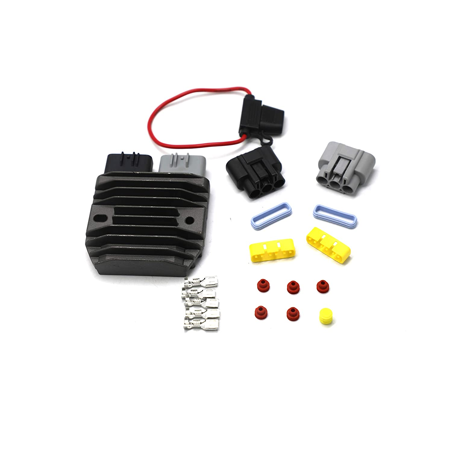 weishine 30A Motorcycle Regulator /& Rectifier Complete Kit For Shindengen Mosfet FH020AA Upgrade