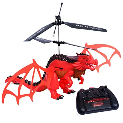 YARMOSHI Flying Dragon with Remote Control  Wings Realistically Flap While  in Flight  Robotic, Fantasy Play  Easy to Use Fun Gift for Boys and Girls