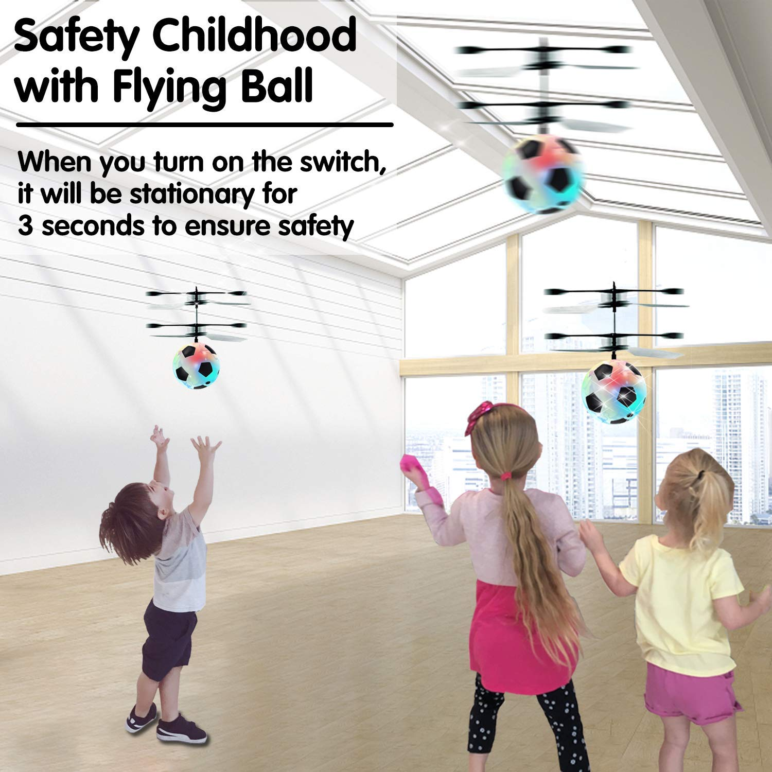 Flying Ball Drone, Kids Flying Toys Boys Girls Light Up Ball Drone RC Infrared Induction Helicopter with Remote Controller UFO Aircraft Toys Games Toys for 1 2 3 4 5 6 7 8 9 10 Year Old Indoor Outdoor by AMENON (Image #5)