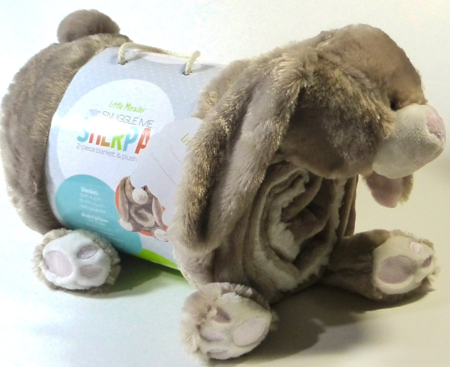 Amazon.com  Little Miracles Baby Blanket   Plush Brown Bunny Rabbit Snuggle  Me Sherpa  Baby 5fdc60c2f