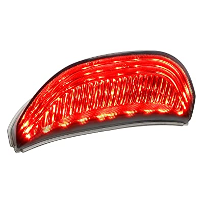 NTHREEAUTO Motorcycle Smoked LED Tail Light, 12V Brake Taillight Integrated with Turn Signals Compatible with Honda CBR600RR 2003-2006, CBR1000RR 2004-2007: Automotive