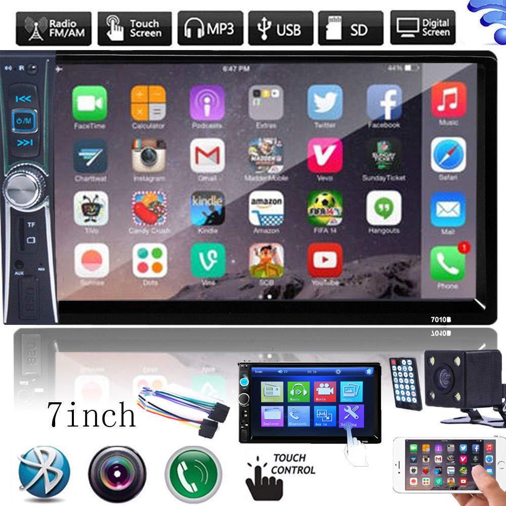 FidgetFidget Car Stereo GPS MP3 Player HD in Dash Bluetooth TV Radio + Camera Double 2Din 7