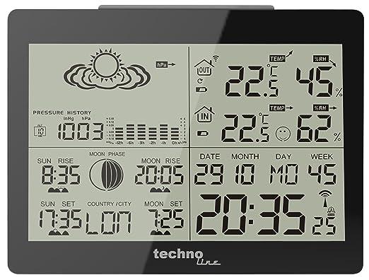 259 opinioni per TechnoLine WS 6760 Stazione Meteo, Nero