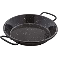 La Paella Garcima 6-Inch Enameled Steel Paella Pan, 15 cm, 15cm, Black