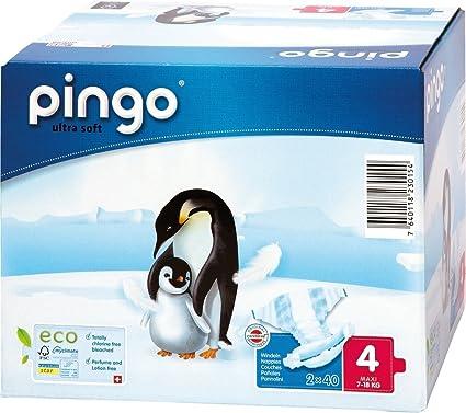 Pingo - Pañales desechables talla 4 (de 7 a 18 kg, 160 unidades)