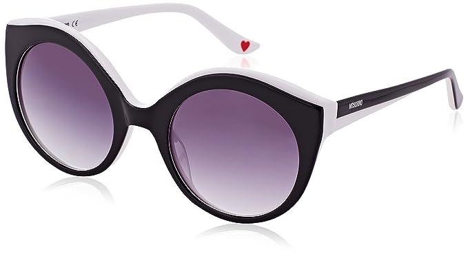 Moschino Eye Gafas de sol, Negro (Nero/bianco), 53 para ...