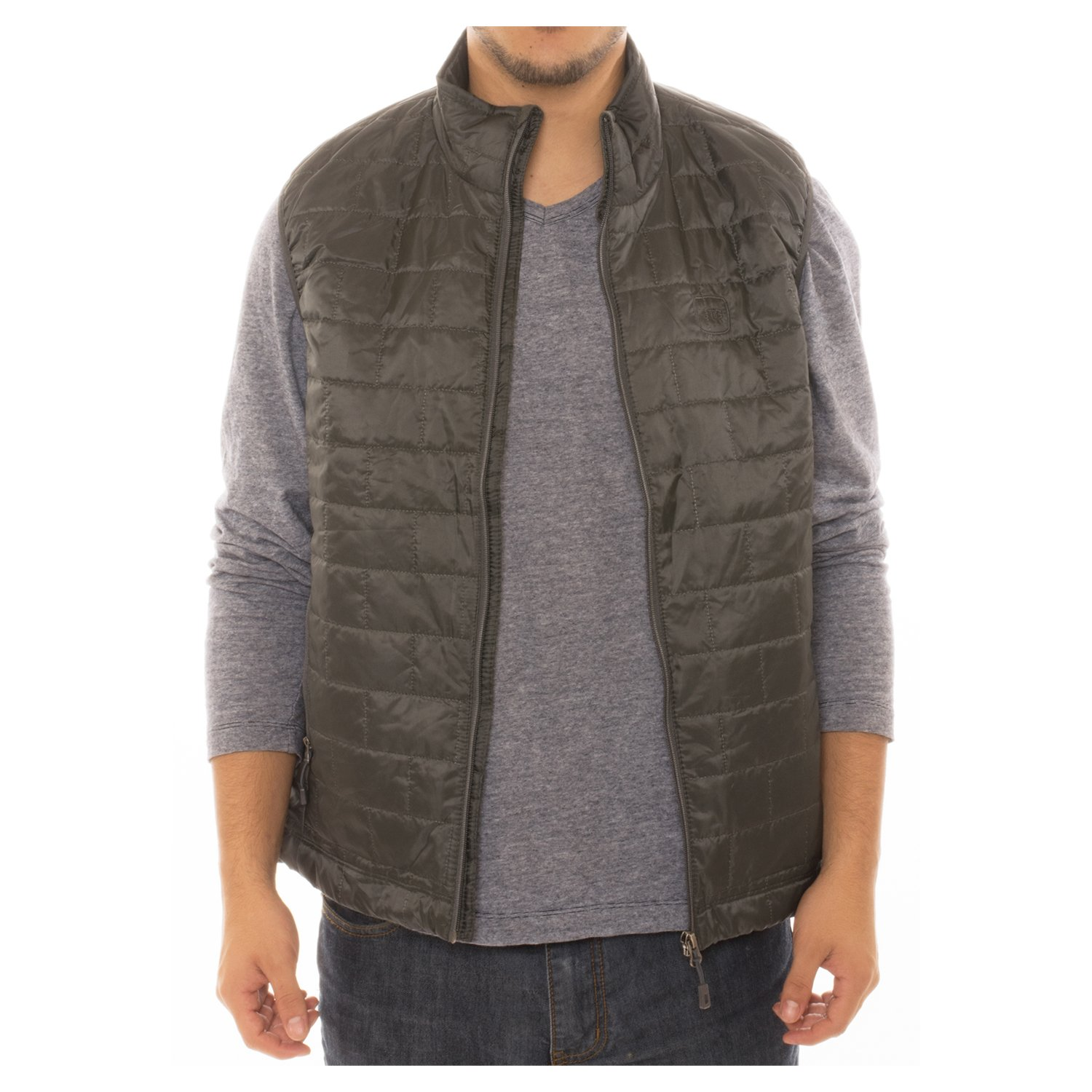 Altatac Men's Puffer Quilted Water Repellent Full Zipper Packable Vest Jacket Coat - NWT