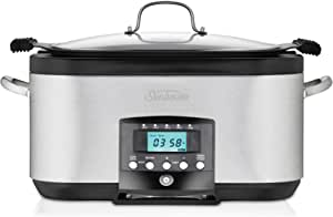 Sunbeam HP8555 5.5L Secretchef Electronic Sear and Slow Cooker, Stainless Steel