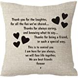 """Best gifts to sisters we are best friends forever friends Throw Pillow Cover Cushion Case Cotton Linen Material Decorative 18 """"x18'' Square (18''X18'' Inches, 1)"""