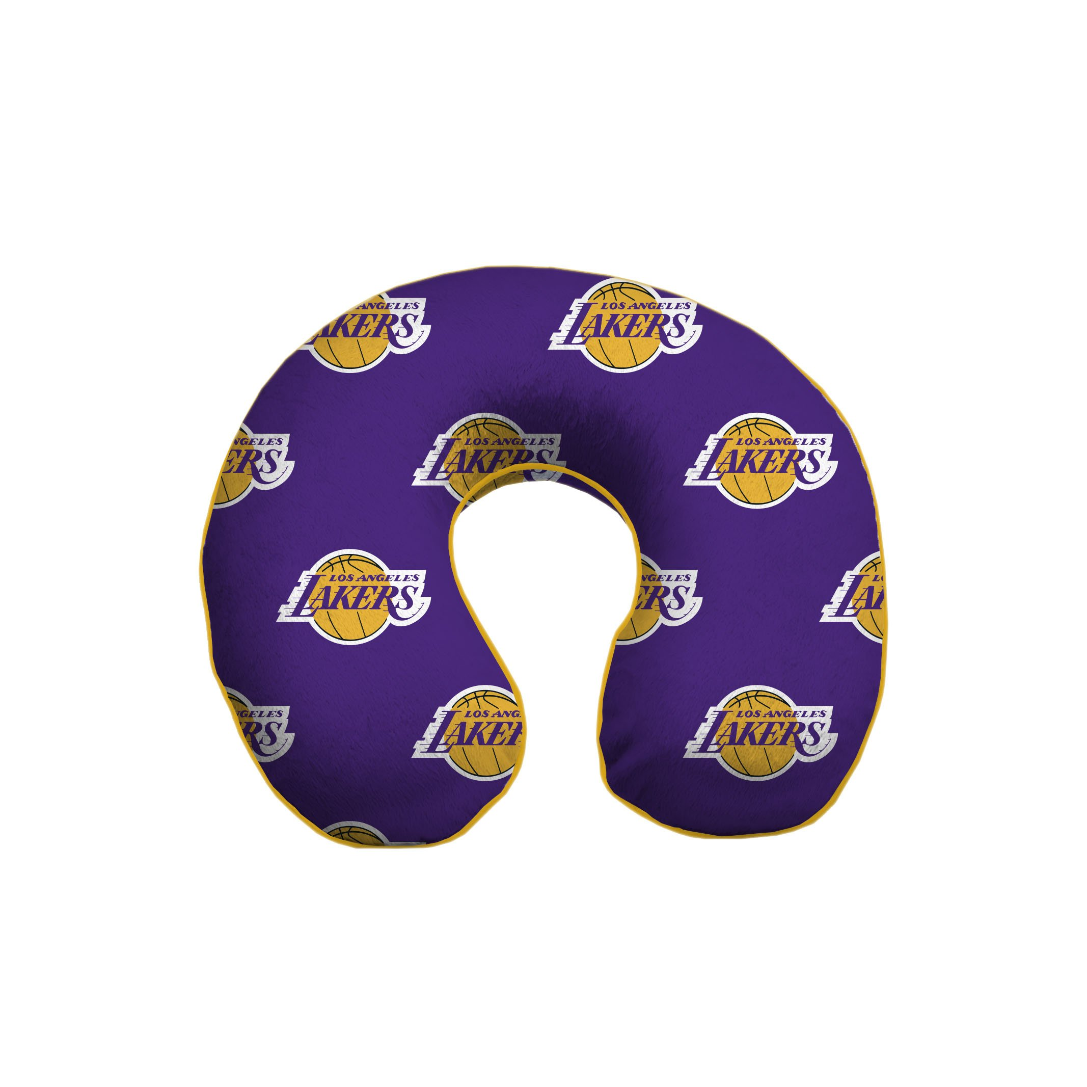 Pegasus Sports NBA Los Angeles Lakers Unisex Nbanba U-Neck Memory Foam Travel Pillow, Gold, One Size