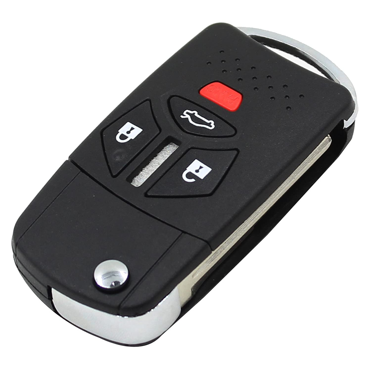 4 Button Remote Flip Key Shell Case For Mitsubishi Lancer Galant Raide Uncut HuihuangAMZus