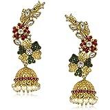 Meenaz Ear cuffs Traditional Earrings For Fancy Party Wear Wedding Kundan Moti Pearl Earrings For Women - T372