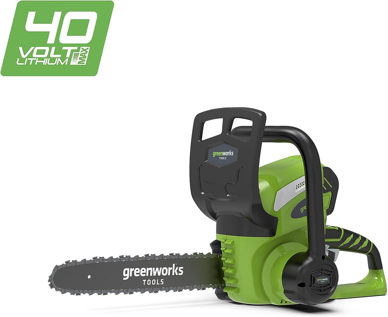 Greenworks Motosierra inalámbrica de 30cm y 40V Li-Ion (sin batería ni cargador) - 20117