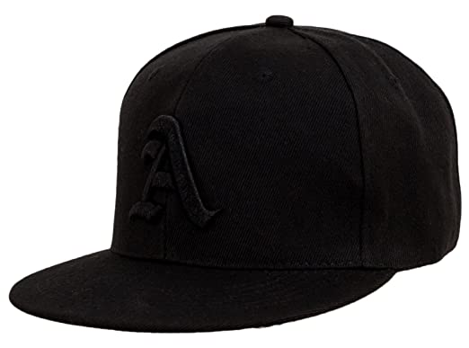 d44ff7f901c11 4sold Kids Snapback Hat with Raised 3D Black Embroidery Letter Baseball Cap  Hip-Hop Cap Hat Headwear (A)  Amazon.co.uk  Clothing