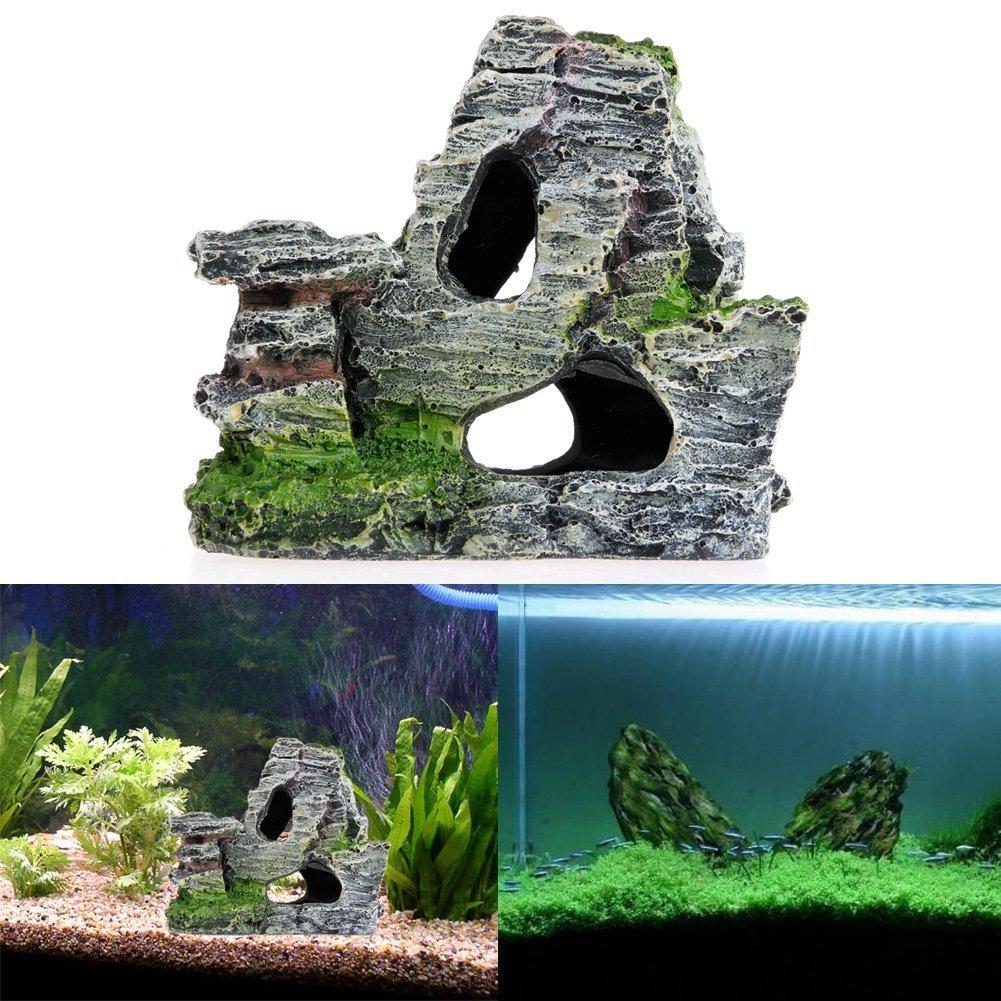 Naisicatar Adorno para acuario de cueva con musgo: Amazon.es: Productos para mascotas