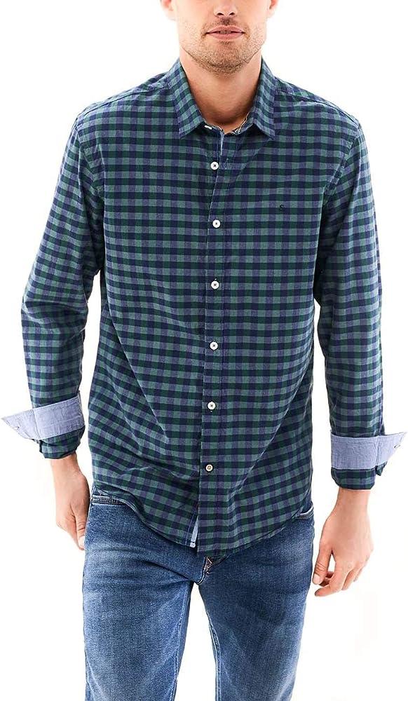 Camisa Salsa Ajedrez Slim Fit Verde Small Verde: Amazon.es: Ropa y accesorios