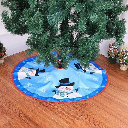 BERTERI Falda de árbol de Navidad, Creativa Azul de Peluche con ...