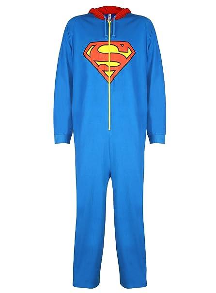 ccbe51a8f3 Superman - Pijama de una pieza - Básico - para hombre Azul azul