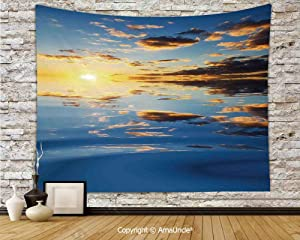 "yananyin Tapestry Wall Hanging Last Sunbeams of The Day Scenery Romantic Dreamy Tropical Vacation Tapestry Decor Wall Tapestry for Bedroom Dorm Room 80"" Wx60 L"