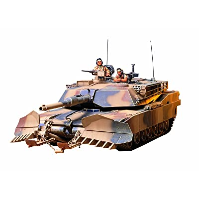 Tamiya Models M1A1 Abrams Tank with Mine Plow, Model:TM35158: Toys & Games