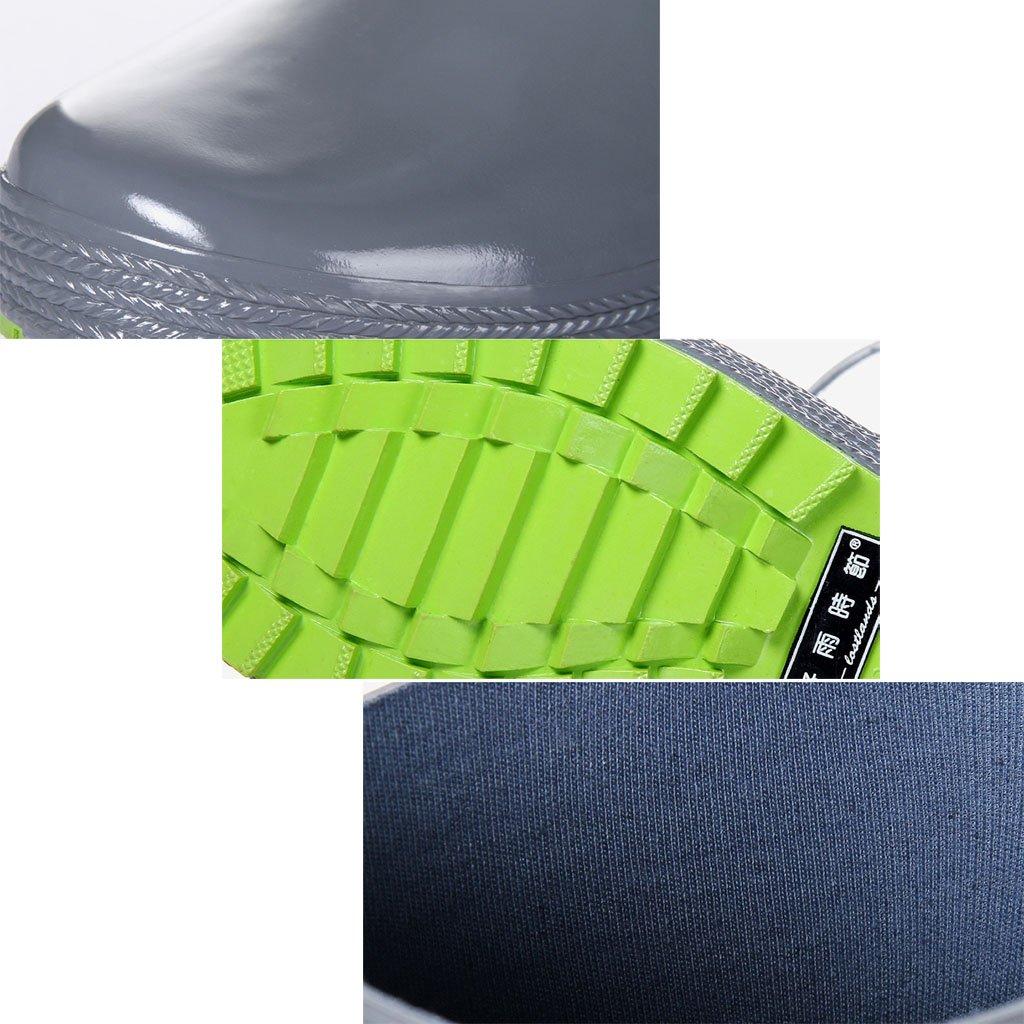 Regen Schuhe Für Männer Hohe Rohr Naturkautschuk Wasserdicht Anti-rutsch-Regen Stiefel Angeln Für Frühling Sommer Outdoor Angeln Stiefel Schwarz 3b1ae7