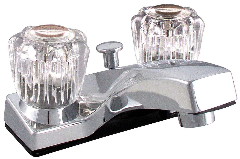 LDR 012 4105CP Lavatory Faucet, Dual Acrylic Handle Faucet with Pop ...