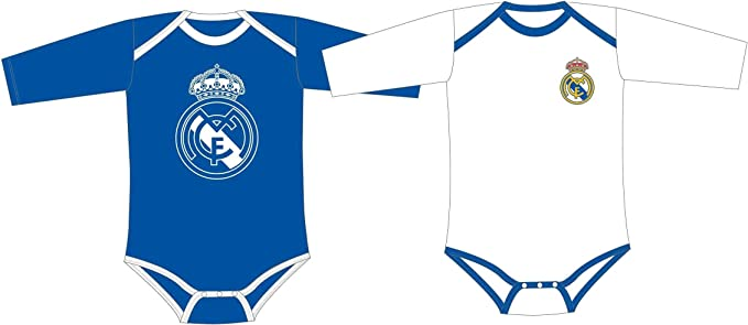 Real Madrid Pack 2 Bodys Bebé Manga Larga: Amazon.es: Ropa y ...