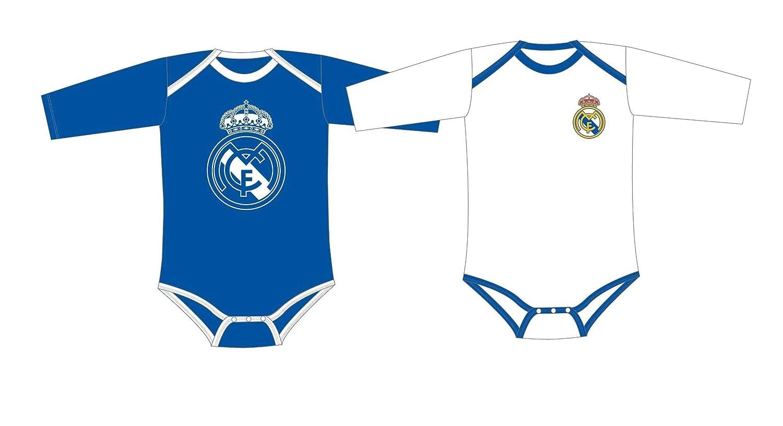 Real Madrid Pack 2 Bodys Bebé Manga Larga