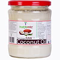 Hathmic Raw Extra Virgin Cold Pressed Coconut Oil, 500ml