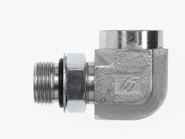 6805-06-06 Hydraulic Adapter 3//8 Male BOSS Swivel X 3//8 Female Pipe 90 Degree Carbon Steel
