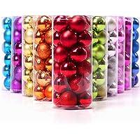 Keysui 24PCS Multicolor Bolas de Navidad Para Decorar