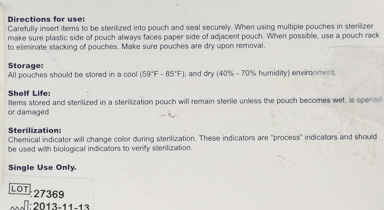 5 1//4 x 10-200//Box Self Seal Sterilization Pouches