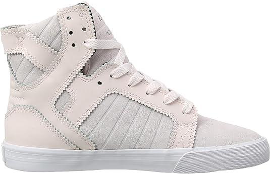 Supra Catori Femme Casual Fashion Baskets Mi-Top Chaussures Pied Sangle De Lumière-Gris