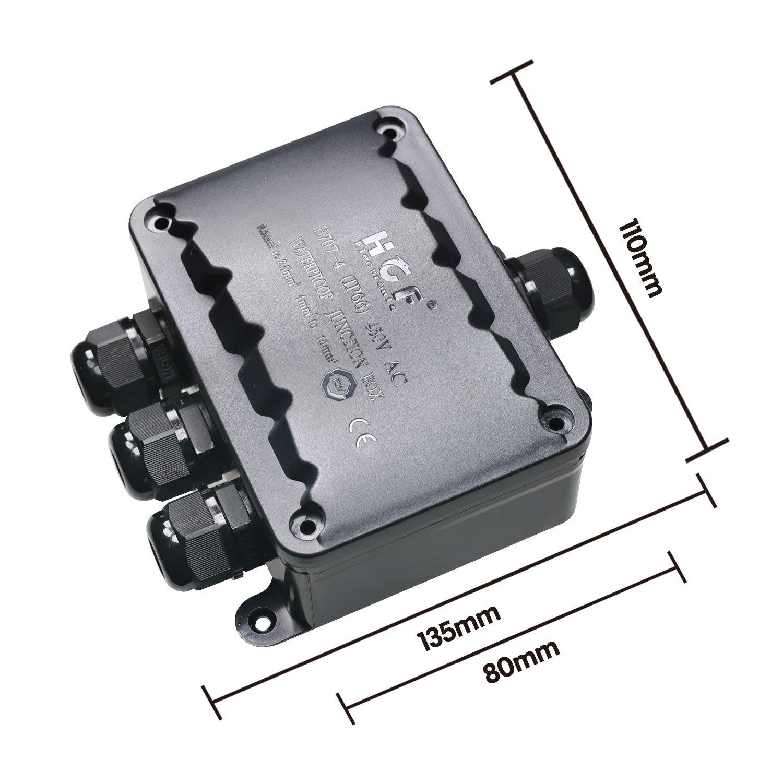 SAMHUE IP66 Wasserdichte 4 Way Kabel Kunststoffverbinder Drüse ...