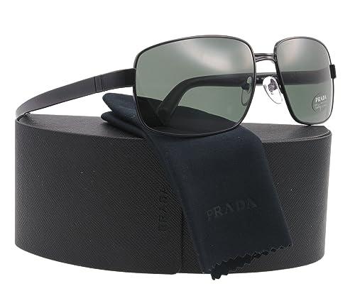 Amazon.com: Prada anteojos de sol SPR 52 N Negro 1bo-301 ...