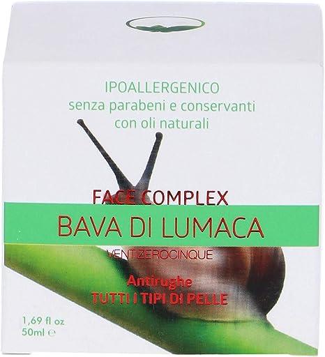 Face Complex - Crema para el rostro, cuerpo de Baba de caracol - Anti-arrugas