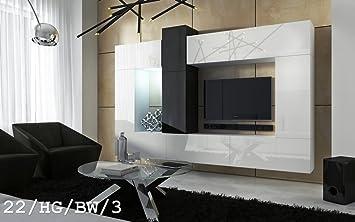 FUTURE 22 Moderno Conjunto De Muebles De Salón, Exclusiva Unidad De Entretenimiento, Mueble TV, Suite A Estrenar, Gran Variedad De Colores ...