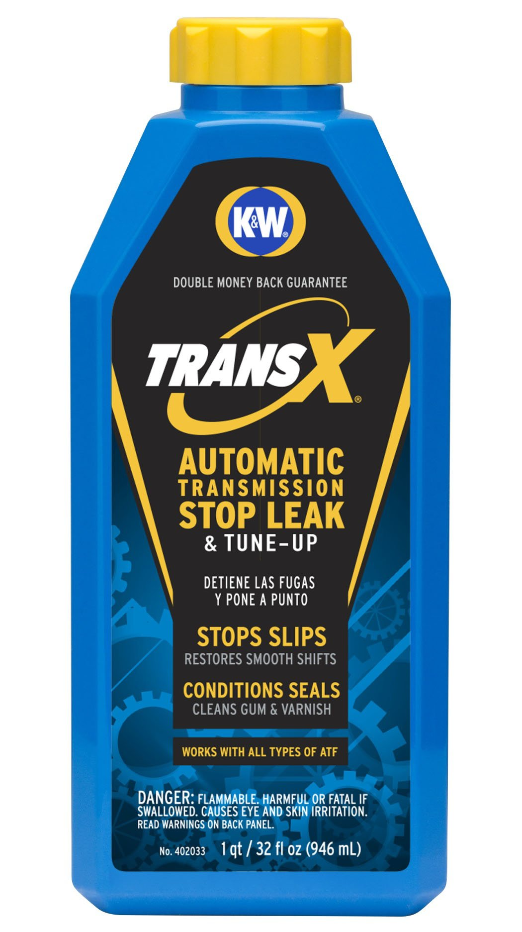 K&W 402033X6 Trans-X Automatic Transmission Stop Leak & Tune-Up - 32 Fl Oz.
