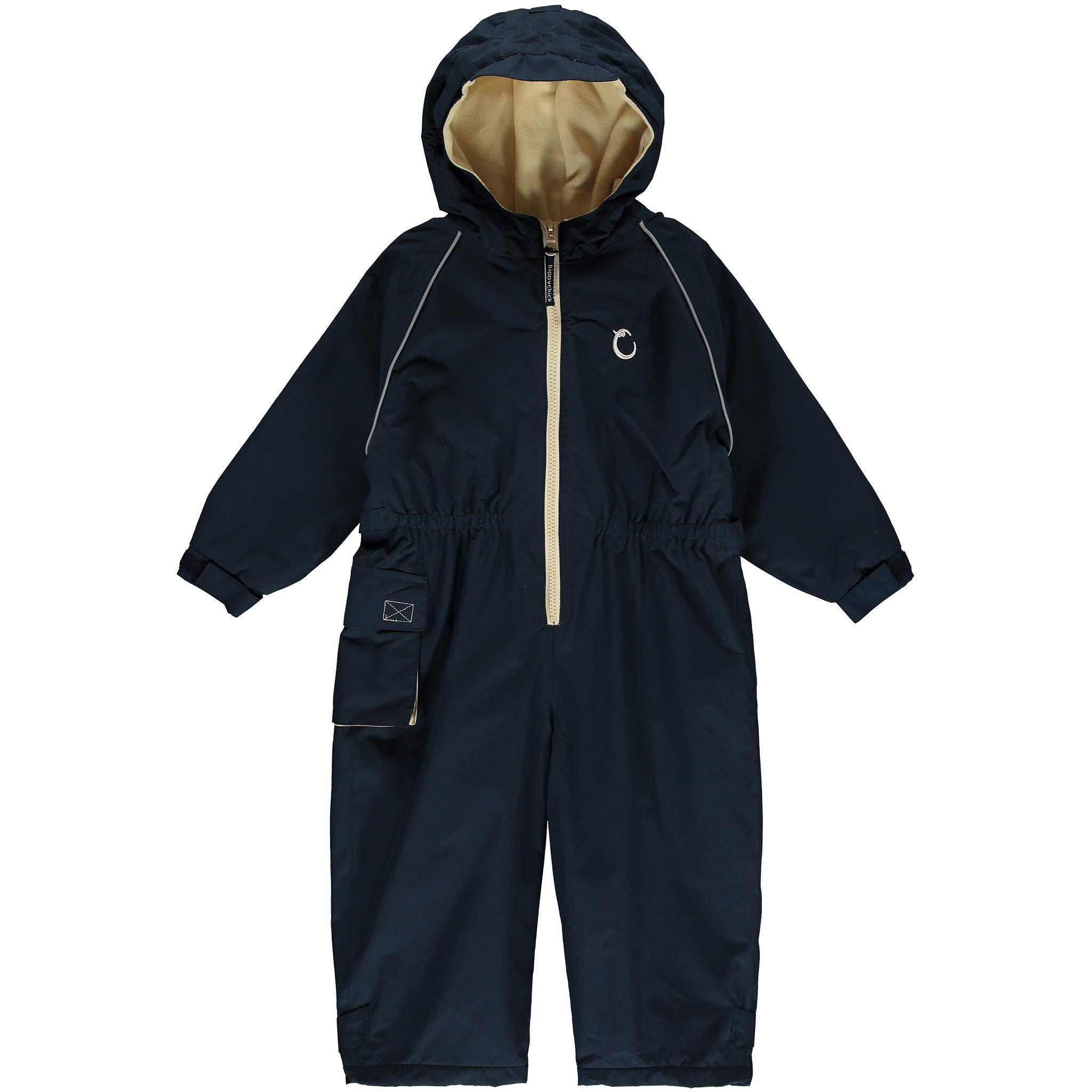 Hippychick Fleece Lined Waterproof Coverall One Piece Rain Suit - Midnight Blue 4-5yrs by Hippychick
