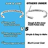 SAM & LORI Inspirational Cuff Bracelet Bangle Keep