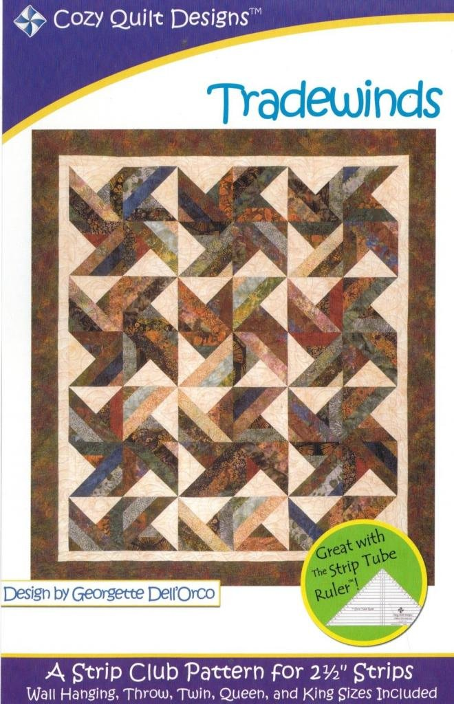 Trade Winds Tradewinds Quilt Pattern, Jelly Roll 2.5 Inch Strip Friendly, 5 Finished Size Options Cozy Quilt Designs 4337011697