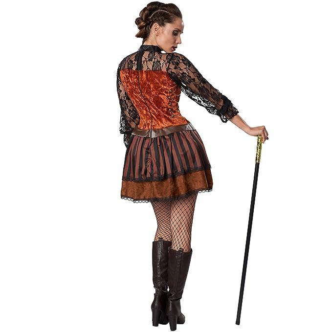 dressforfun 900486 - Disfraz de Mujer Condesa Steampunk, Precioso Vestido en Tonos Marrones (XXL   No. 302314): Amazon.es: Productos para mascotas