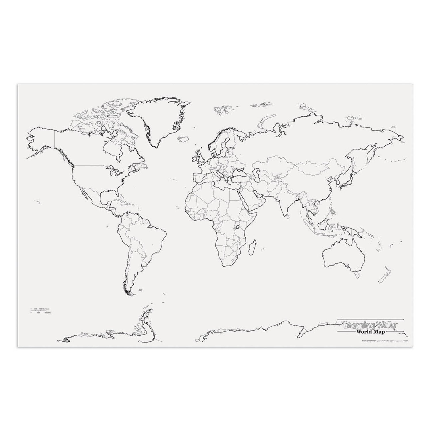 Pacon PAC78770 World Giant Map, 48'' Width, 72'' Length
