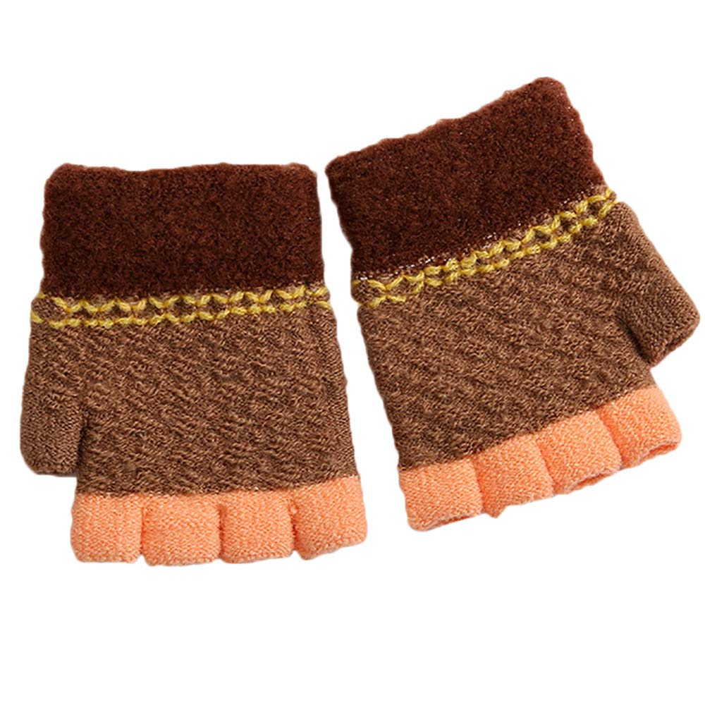 Little Kids Winter Warm Gloves, Colorful(TM) Newborn Baby Girls Boys Winter Candy Color Patchwork Keep Warm Mittens Gloves for 0-2 Years Old