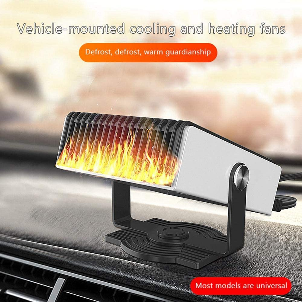 FOONEE Portable Car Heater Defroster 12V//150W Car Defrost Heater Defogging Snow Heater Vehicle-Mounted Electric Heater With Cigarette Outlet Plug Upright Windscreen Demister With Air Purification