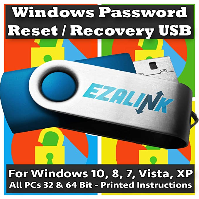 Windows Password Reset Recovery USB for Windows 10, 8 1, 7, Vista, XP | #1  Best Unlocker Software Tool {For Any PC Computer}