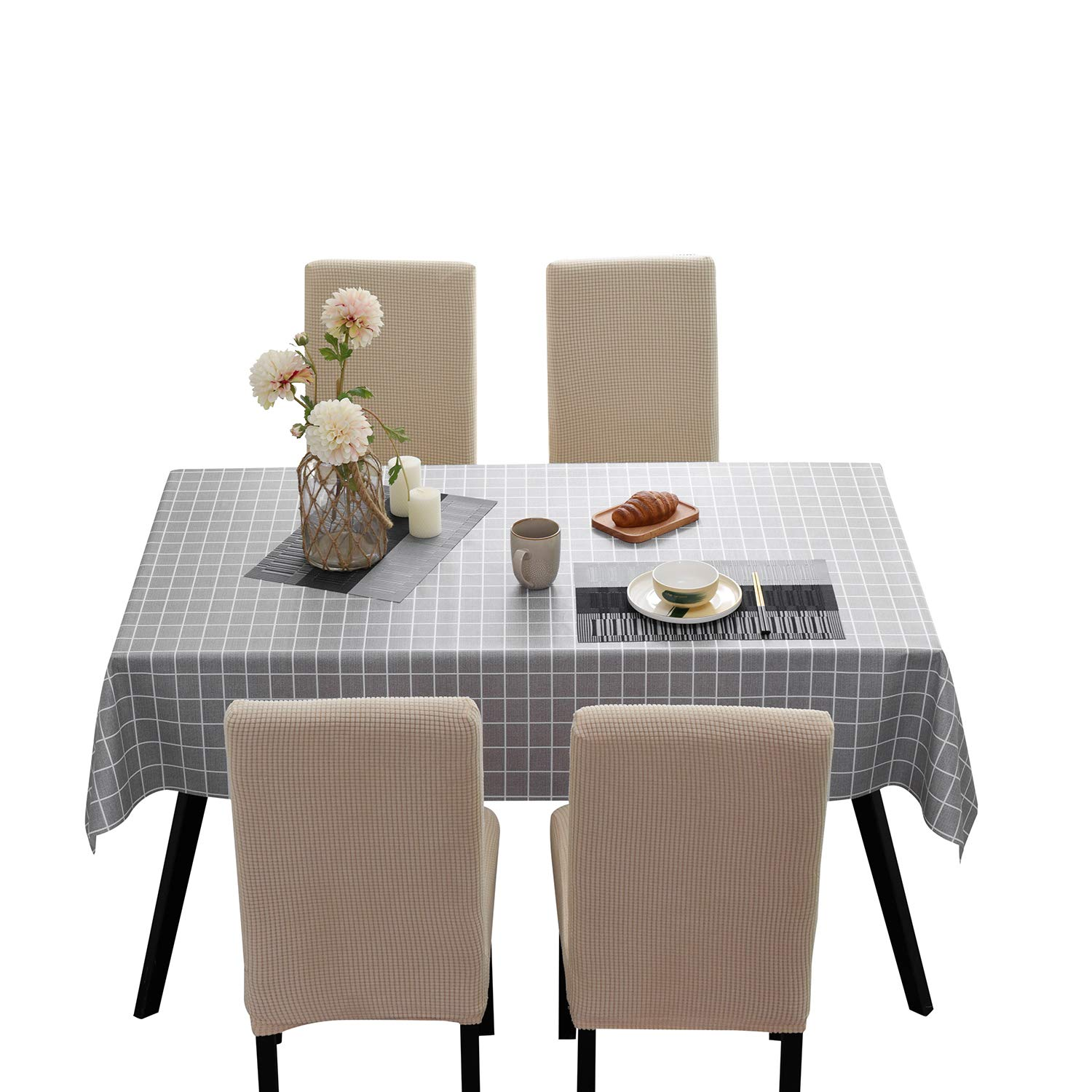 Wipe Clean Dining Washable Table Cloth Furniture Tabletop Protector Covers UK